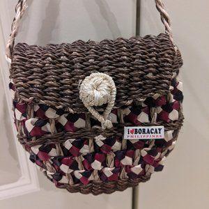 Bohemian Style Handmade Straw Knit Purse